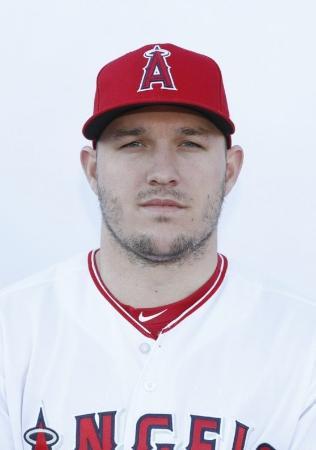 エンゼルスのマイク・トラウト外野手