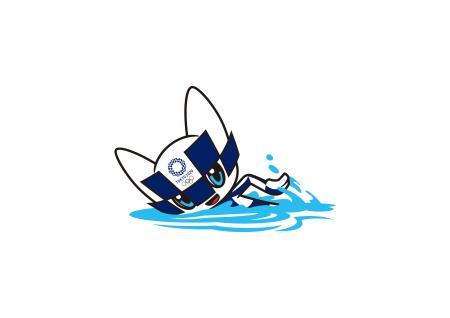 競泳のミライトワ(Tokyo2020提供)