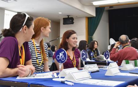 札幌市で行われた、東京五輪・パラリンピックのボランティア応募者に対する「オリエンテーション」=20日