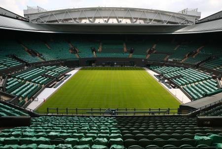 テニスのウィンブルドン選手権が行われるオールイングランド・クラブ=30日、ロンドン郊外(ゲッティ=共同)