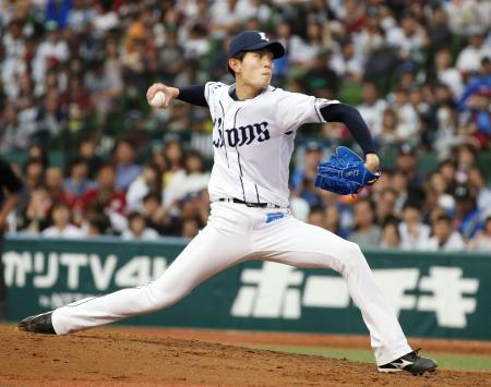 プロ初完封で4勝目を挙げた西武・今井=メットライフドーム