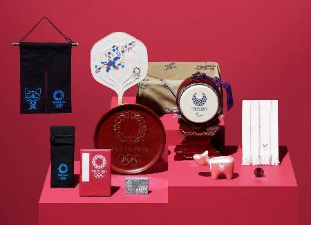 2020年東京五輪・パラリンピックと各地の伝統工芸品がコラボした商品の第2弾(大会組織委員会提供)