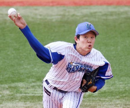 プロ初完封で3勝目を挙げたDeNA・上茶谷=横浜