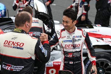 ルマン24時間を連覇するとともに日本人初のWEC総合王者に輝いた中嶋一貴(C)TOYOTA Gazoo Racing