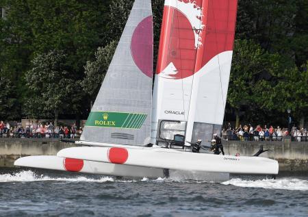 優勝した日本艇=22日、ニューヨーク(ゲッティ=共同)