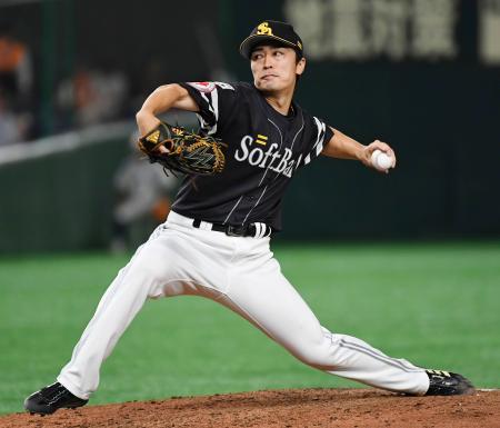 5回1失点で2年ぶりの白星を挙げたソフトバンク・和田=東京ドーム