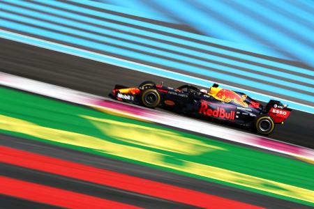 F1フランスGP、レッドブル・ホンダのマックス・フェルスタッペン=23日、ルカステレ(ゲッティ=共同)