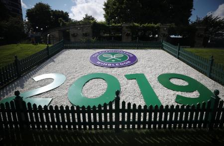 テニスのウィンブルドン選手権が行われるロンドン郊外のオールイングランド・クラブ(ロイター=共同)