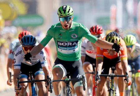 ツール・ド・フランス、第5ステージを制したペテル・サガン=10日、コルマール(AP=共同)