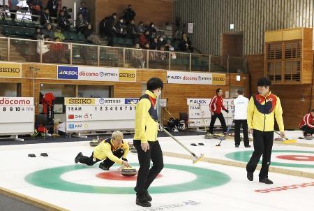 「どうぎんクラシック」の会場となる札幌市のどうぎんカーリングスタジアムで、2017年に行われた冬季アジア大会の様子。