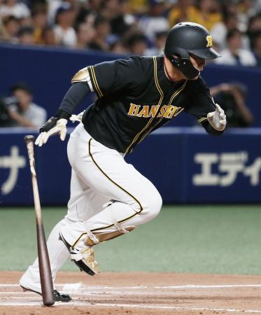 11回阪神1死一、二塁、高山が二ゴロ併殺に倒れる=ナゴヤドーム