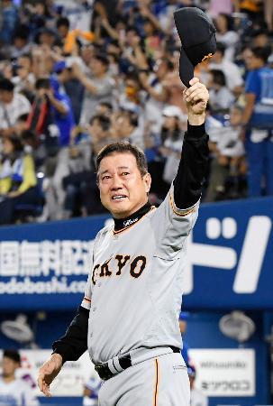 プロ野球巨人の監督としてセ・リーグ優勝を果たした原辰徳監督
