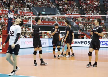 ブラジルに敗れた日本=広島県立総合体育館