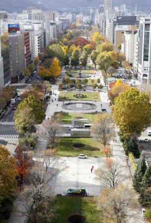 マラソン札幌開催の場合の発着候補地「大通公園」=30日