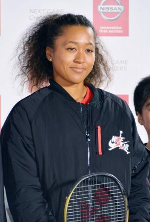 東京都内で行われたイベントに参加した女子テニスの大坂なおみ=7日午後
