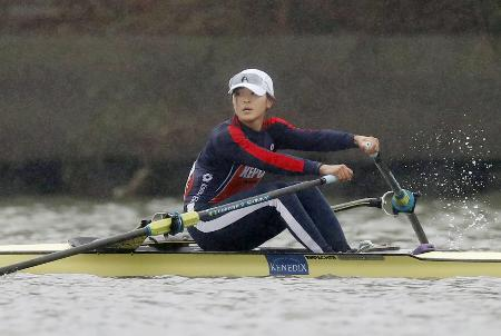 ボートの日本代表1次選考レースに出場した冨田千愛=荒川