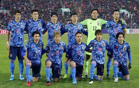 サッカーW杯予選のキルギス戦に臨んだ日本の先発メンバー=11月14日、ビシケク