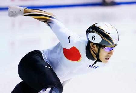 男子1500メートル決勝 3位の渡辺啓太=名古屋市ガイシプラザ
