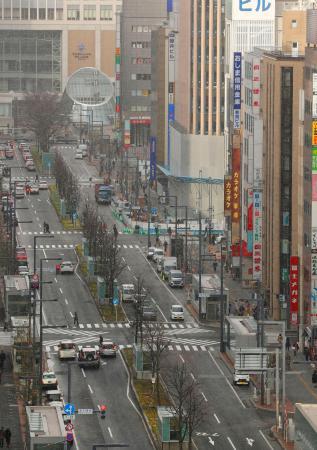 2020年東京五輪で競歩のコースとなる札幌駅前通=3日