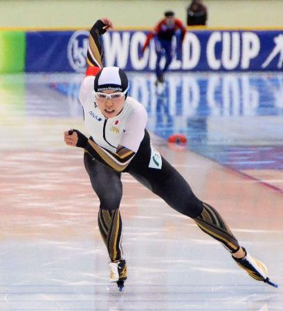 女子500メートルで3位だった小平奈緒=ヌルスルタン(共同)