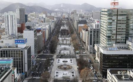 札幌市中心部の大通公園