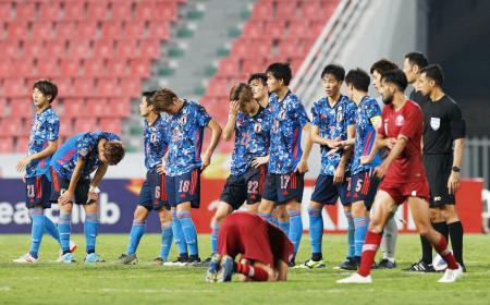 カタールと1―1で引き分け、大会を終えた日本=バンコク(共同)