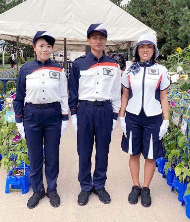 東京五輪・パラリンピックの競技会場で、保安検査などに当たる民間警備員が着用する制服(大会組織委提供)