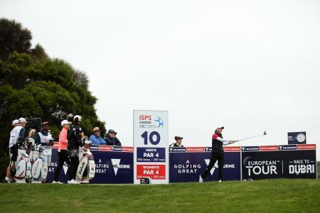 ISPSハンダ・ビック・オープンが行われたゴルフ場=7日、オーストラリア南部ジーロング(ゲッティ=共同)