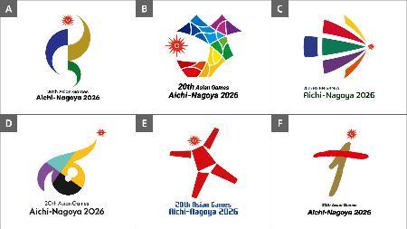 2026年夏季アジア大会のエンブレムのデザイン最終候補(大会組織委提供)