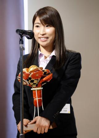 ホッケー日本リーグで2019年の最優秀選手に選ばれた清水美並選手=17日、東京都内
