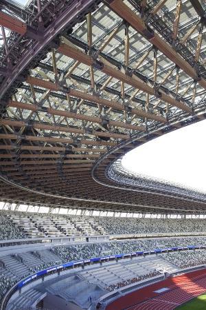 国立競技場の観客席=2019年12月、東京都新宿区