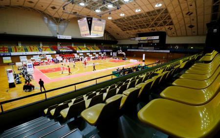 無観客で行われた三遠―富山戦=豊橋市総合体育館