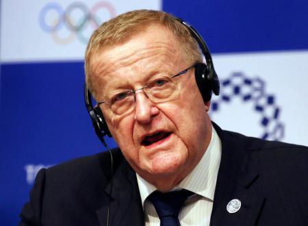 IOC調整委員会のジョン・コーツ委員長(AP=共同)