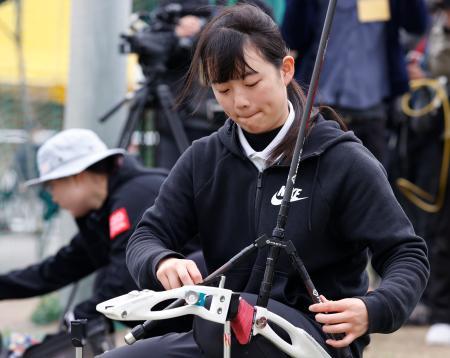 東京五輪代表2次選考会を終えた園田稚。6位で落選した=静岡県掛川市