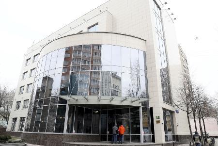 モスクワにあるロシア反ドーピング機関の建物(タス=共同)