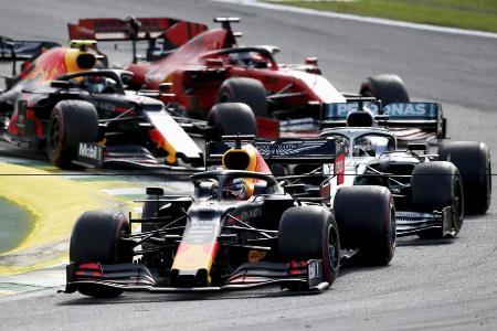2019年11月に行われたF1のブラジル・グランプリ=サンパウロ(ゲッティ=共同)