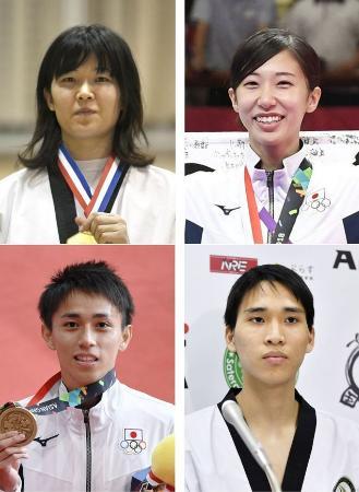 上段左から浜田真由、山田美諭。下段左から、鈴木セルヒオ、鈴木リカルド