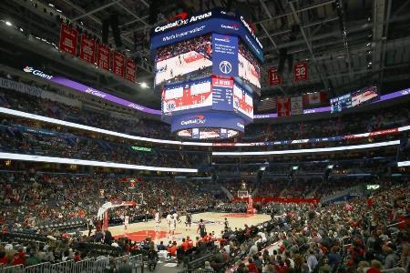 NBA・ロケッツを相手に行われたウィザーズの本拠地開幕戦=2019年10月30日、ワシントン