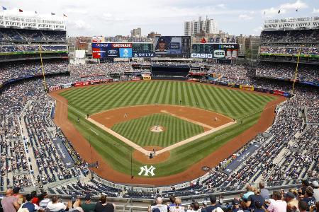 米大リーグ、ヤンキースの本拠地、ヤンキースタジアム=ニューヨーク(共同)