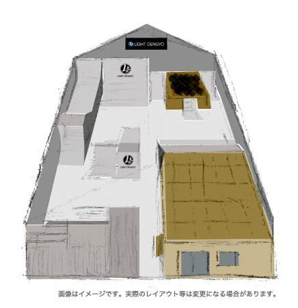自転車BMXフリースタイル・パークの室内強化施設「ライトBMXパーク」のイメージ(全日本フリースタイルBMX連盟提供)