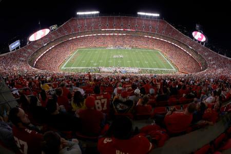 9月にNFLの開幕戦が予定される、王者チーフスの本拠地、アローヘッド・スタジアム=カンザスシティー(AP=共同)