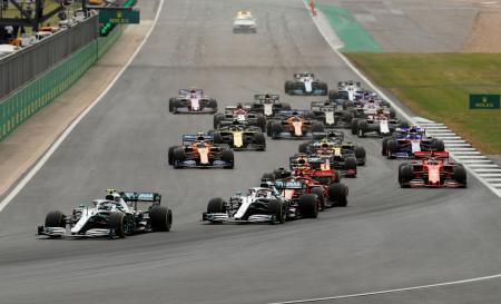 2019年7月にシルバーストーン・サーキットで開催された英国GP(ロイター=共同)