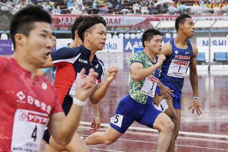 昨年6月、博多の森で行われた陸上の日本選手権最終日=福岡市