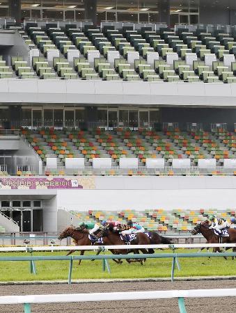 無観客で開催された高松宮記念=3月29日、中京競馬場