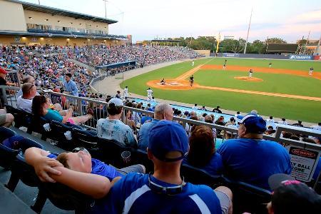 2015年、ミシシッピ州でのマイナーリーグの試合風景=ビロキシ(AP=共同)