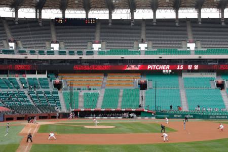 韓国プロ野球=5月、仁川(AP=共同)