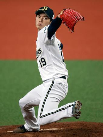 広島との練習試合に先発したオリックス・山岡=京セラドーム
