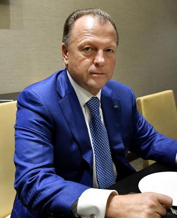 国際柔道連盟のビゼール会長=2018年9月