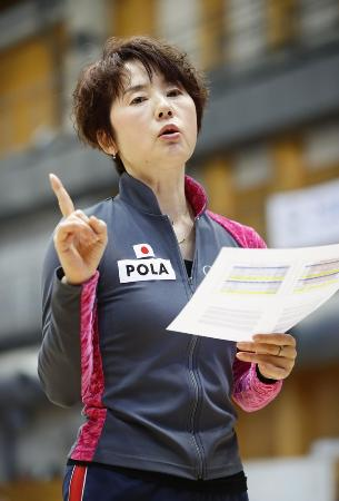 日本体操協会の山崎浩子強化本部長=1月6日