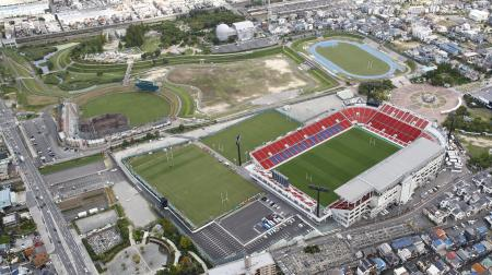 花園ラグビー場を含む「花園中央公園エリア」=大阪府東大阪市